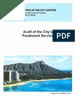 Handi-Van audit
