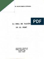 La Idea de Nación en el Perú por Miguel Maticorena Estrada