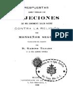 Monseñor Segur - Respuestas Claras y Sencillas A Las Objeciones