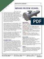 Multi Purpose Filter Vessels