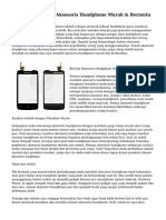 Trik Cara Memilih Aksesoris Handphone Murah & Bermutu