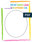 Easter Egg Colouring Sheet 1
