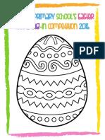 Easter Egg Colouring Sheet 2