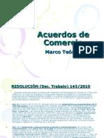 Acuerdos de Comercio - 2010