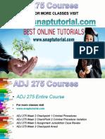 ADJ 275 Academic Success/snaptutorial