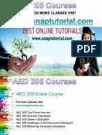 AED 205 Academic Success/snaptutorial