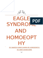 Eagle Syndrome and Homoeopathy