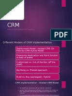 CRM System- Deployment Models