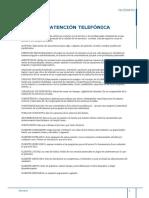 Glosario Atención Telefónica
