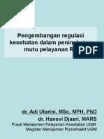 Desain Dan Implementasi Peran Regulasi Pelayanan Kesehatan (HANEVI)