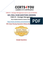 How to pass the Cima E3 exam in first attempt?