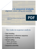 Key Tasks in Sequence Analysis- Alignment-Variant Call-Assembly