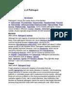 5 Different Types of Pathogen