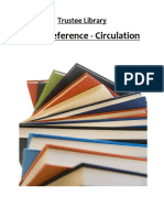 Trustee Library Circulation Policies (revised 2010)