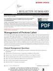 management of preterm labor