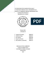 Laporan Praktikum Manajemen Pemasaran Kelompok 29