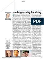 The frogs that wanted a king
