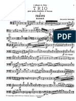 Trio for Piano, Oboe and Bassoon - Poulenc (Bassoon part)