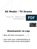 Beck's As Media – TV Drama (Lesson 2 on MES and Camerawork)