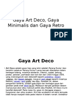 Gaya Art Deco, Minimalis dan Retro