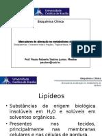 Aula 6 Lipídeos, Lipoproteínas e Apolipoproteínas