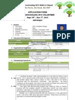 Aplication Form - Volunteer Agroschooling 2015
