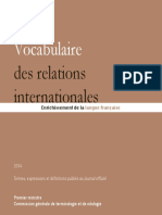 Vocabulaire Des Relations Internationales