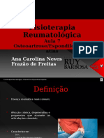 Aula Osteoartrose e Espondiloartropatias