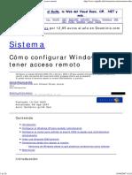 Cómo Configurar Windows Para Tener Acceso Remoto