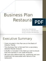 Business Plan - Restuarant -2