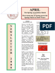 AMFC newsletter - April