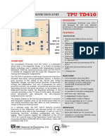 Unitate de Protectie Transformator TPU TD410