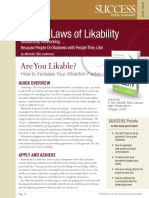 The 11 Laws of Likability Summary