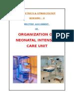Organization of NICU Services