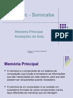 Capítulo 4 Hierarquia de Memória 2013