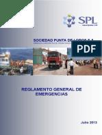 Reglamento General de Emergencias SPL Puerto Patillos