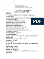 Conflictos de Competencia Internacional