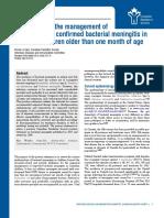 Management of Bacterial Meningitis