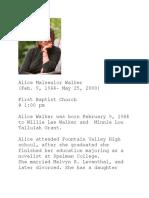 alice walker obituary