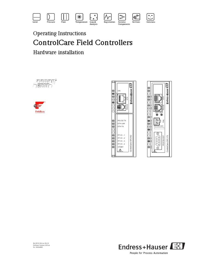 Endress+Hauser ControlCare SFC428 Discrete Output Module