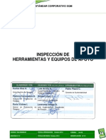 SGI-E00006-01 - Estandar Corporativo Inspección de Herramientas y Equipos de Apoyo