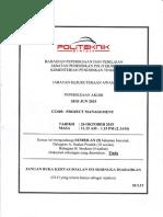 CC603 Project Management Jun 2015