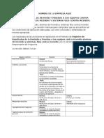 Programa Anual de Revision y Pruebas a Los Equipos Contra Incendio