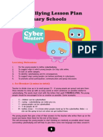 cyberbullying lesson plan