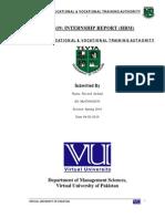 Human Resource Management Internship Report Virtual University of Pakistan