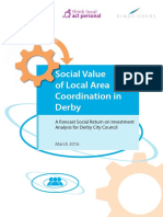 Assured SROI Report for Local Area Coordination in Derby March 2016