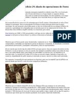 Método para beneficio 2% diario de operaciones de Forex