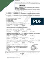 AIEEE 2010 Practice Paper
