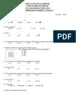 Monthly Test Mathematics July Y5 '13