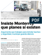 08-03-16 Insiste Monterrey que planes sí existen